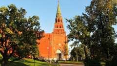 Боровицкая вежа московського кремля: історія. Як дістатися до башти?