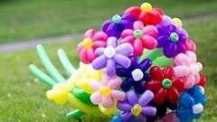 Квіти з кульок ковбасок: інструкція з виготовлення