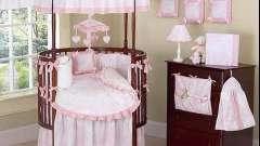 Дитяче ліжко для новонародженого кругла
