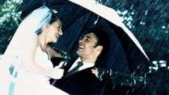 Дощ на весіллі - прикмета хороша