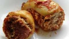 Фаршировані перці: як готувати з овочевим бульйоном?