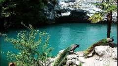 Блакитне озеро (абхазія) - унікальна природна пам`ятка