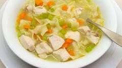 Готуємо смачний суп з вермішеллю і куркою