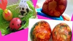Як фарбувати яйця на великдень і які можна виготовити до цього свята вироби
