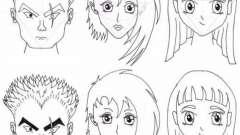 Як намалювати обличчя аніме? Аніме олівцем: особи