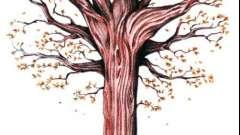 Як намалювати осіннє дерево поетапно
