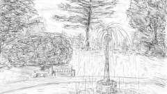 Як намалювати парк олівцем?