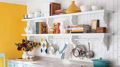 Як зробити навісні полки для кухні своїми руками