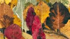 Як зробити панно з осіннього листя своїми руками