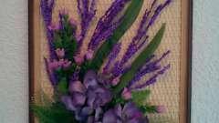 Картини з квітів штучних: красиво і легко