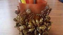 """Красиві вироби на тему """"осінь"""" з макаронів"""