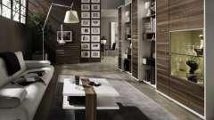 Меблева стінка для вітальні: створюємо дизайн кімнати