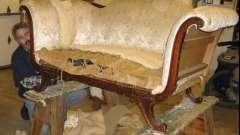 Оббивка диванів, перетяжка м`яких меблів: інструкція по виконанню робіт