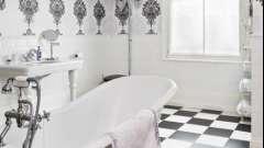 Шпалери для ванної кімнати - несподіване рішення