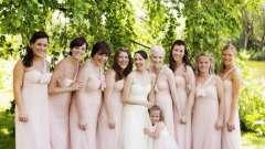 Плаття подружок нареченої: основні правила вибору