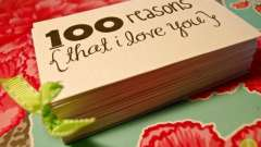 Чому я люблю тебе? 100 причин, чому я люблю тебе