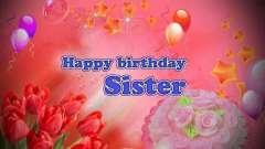 Привітання з днем народження. 55 років сестрі - значущих дата!