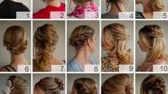 Проста зачіска на довге волосся з елементами плетіння