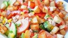Салат «едельвейс» з куркою і іншими інгредієнтами