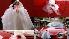 Стильні прикраси для машини на весілля: своїми руками зробити їх цілком можливо