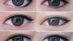 Стрілки для очей: види для різних форм очей