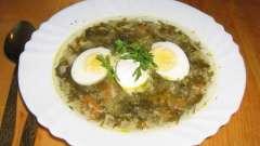 Суп з щавлю з яйцем - два варіанти виконання