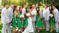 Весілля в смарагдовий кольорі: оформлення залу, образи нареченої та нареченого