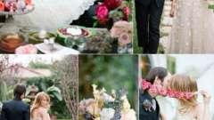 Весілля в стилі аліса в країні чудес - подорож в казку