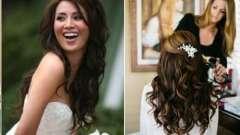 Весільна зачіска на довге волосся розпущене в європейському стилі boho