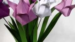 Тюльпан з паперу своїми руками