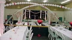 Прикраса залу на весілля: як вибрати?