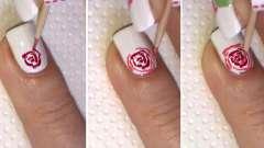 Дізнаємося, як малюється троянда на нігтях