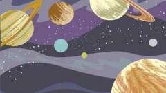 Дізнайтеся кілька способів про те, як намалювати космос аквареллю